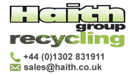 Haith Group - Recycling - Tel 01301 831911 - email sales at haith.co.uk