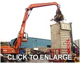 Hydraulic container loading platform ideal for waste material export