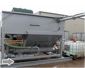 Lamella separator can be designed to handle various water flows from 25 cubic metres to 150 cube