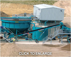 Multi chamber plate press and clarifier treating demolition waste wash water